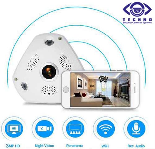 فروش دوربین مداربسته 3 مگاپیکسل 360 درجه ارزان